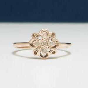 New diamond ring flower design rose gold